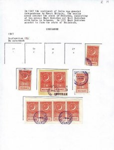 Pakistan: Small Lot of Insurance Tax Stamps, Used, Some on Piece (39304)