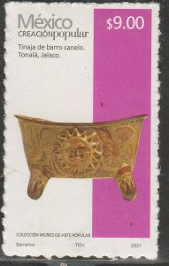 MEXICO NEW ISSUE $9P POPULAR ARTIFACTS 2021. SELF-ADHESIVE. MINT, NH. VF.