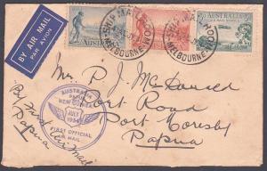 AUSTRALIA TO NEW GUINEA 1934 flight cover to Port Moresby..................87602