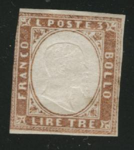 Sardinia Scott 15 MH* 1861 Victor Emanuel II CV$425