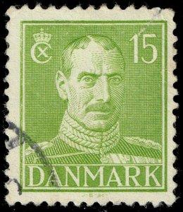 Denmark #281 King Christian X; Used (0Stars)
