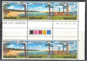 NORFORK ISLAND SC# 251-53 **MNH** 1979  GUTTER STRIP SEE SCAN