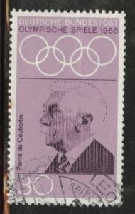Germany Scott 986 used 1968 Olympic stamp