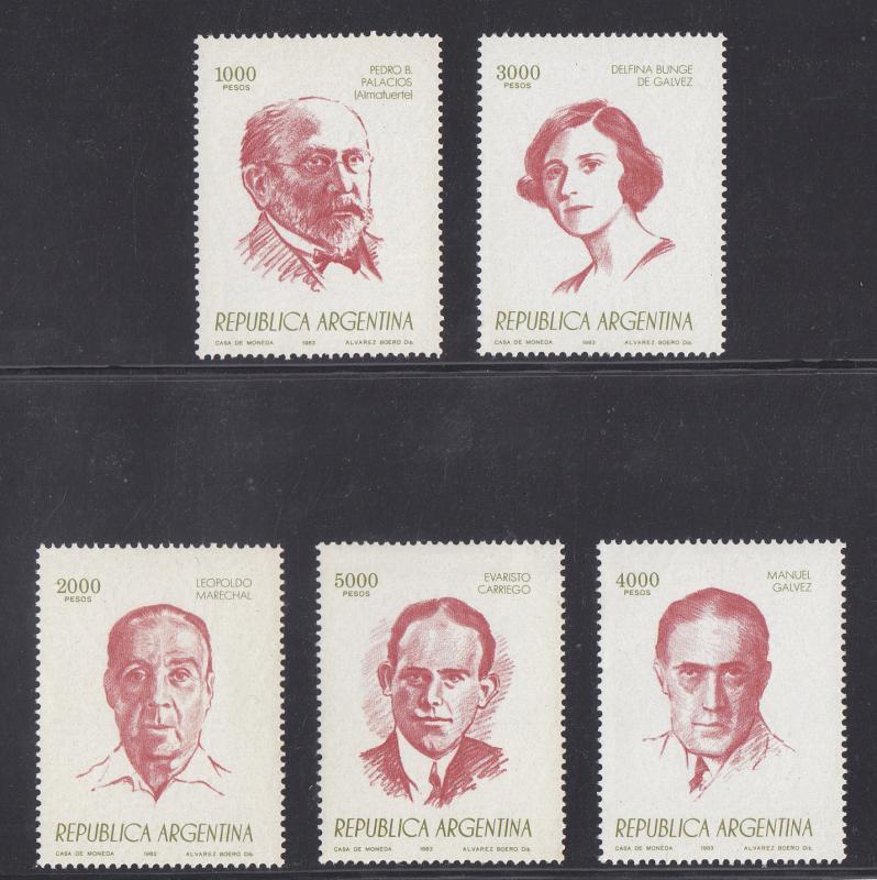 Argentina MNH 1406-10 Writers SCV 3.00