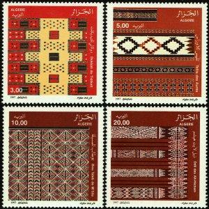 Algeria #1100-03  MNH - Textile Patterns (1997)
