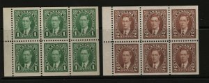 Canada #231b #232b Very Fine Never Hinged Booklet Pane
