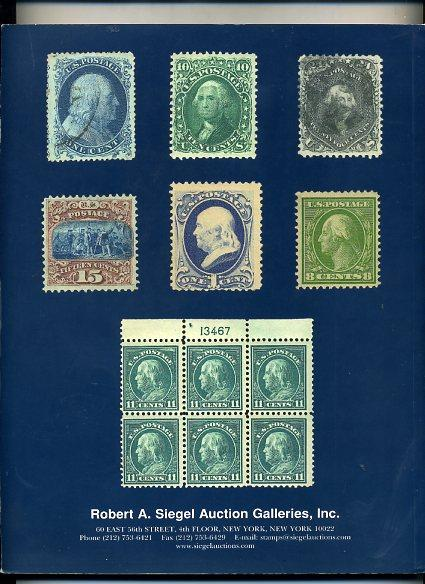 Siegel Stamp Sale of Outstanding US