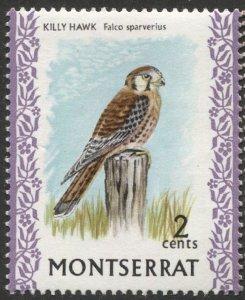 MONTSERRAT 1970  Sc 232  MNH, VF, Bird Killy Hawk