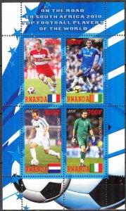 Rwanda 2010 Football Soccer South Africa Famous Players MNH Cinderella !