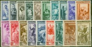Italy 1950 Italy at Work set of 19 V.F Very Lightly Mtd Mint