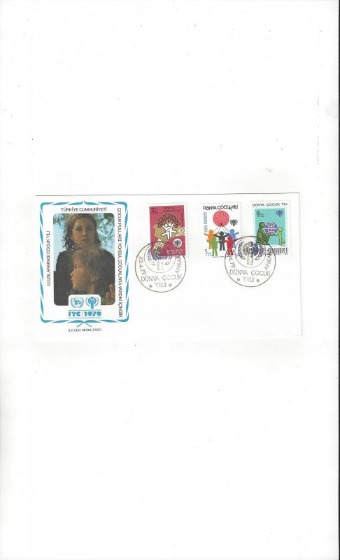 Turkey  FDC 1979 International Year of the Child Official Cachet