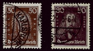 Germany SC #361-362 Used VF...Prices will be rising!!