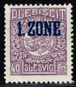 GERMANY STAMP PLEBISCIT 1.ZONE OVERPRINT SLESVIG  40øre MH/OG TYPE 9 VII  $89