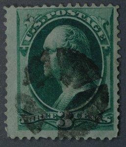 United States #147 3 Cent Washington Used Geometric Cancel