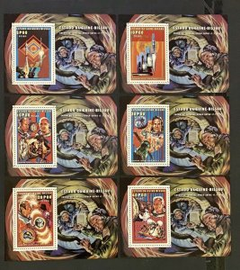 Stamps Deluxe Blocks Space Apollo/Soyouz Guinea Bissau 1976 Perf.