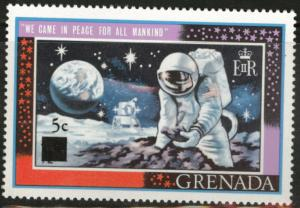 GRENADA Scott 349 MNH** Man on Moon stamp thin 5 type 1970