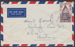 PAPUA NEW GUINEA 1955 cover ex SOHANO  Relief No.2 cds......................M839
