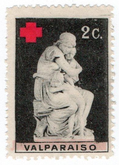 (I.B-CKK) Chile (Great War) Cinderella : Valparaiso Red Cross (Delandre)
