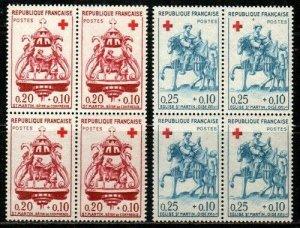 France Scott B347-8 Mint NH blocks (Catalog Value $26.00)