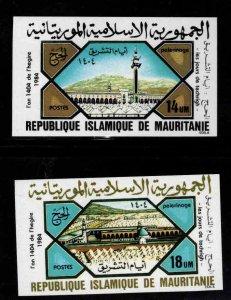 Mauritania Scott 574-575  MNH** Pilgrimage to Mecca Imperforate stamp set