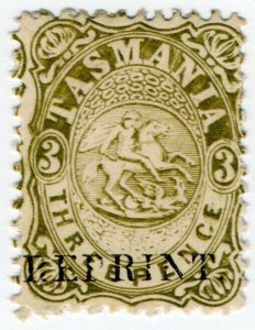 (I.B) Australia - Tasmania Revenue : Stamp Duty 3d (1889 Reprint)