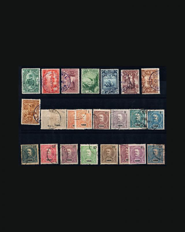 VINTAGE:TIMOR-PORTUGAL 1895 USD ASST  SCOTT 53-82, $80.05 LOT #1895X5