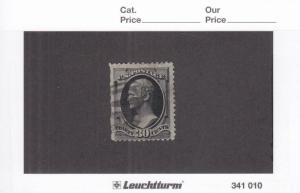 US Stamp: Sc# 165, 30c Hamilton, Used W/Faults (S11719)