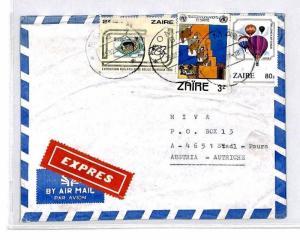 CM380 *ZAIRE* Missionary Air Mail MIVA Austria Cover