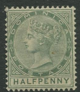 DOMINICA -Scott 17 - QV - Definitive -1883 - MH - Single 1/2p Stamp