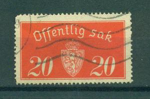 Norway sc# O14 (4) used cat value $.60