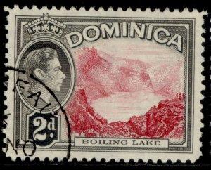 DOMINICA GVI SG102, 2d carmine & grey-black, FINE USED.