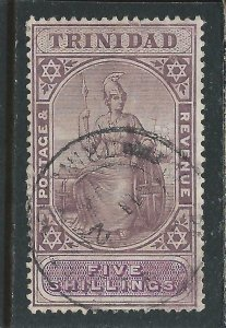 TRINIDAD 1904-09 5s DEEP PURPLE & MAUVE FU SG 144 CAT £110