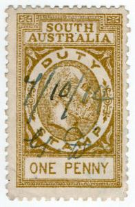 (I.B) Australia - South Australia Revenue : Stamp Duty 1d