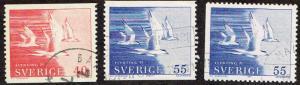 Sweden # 886 - 888 U