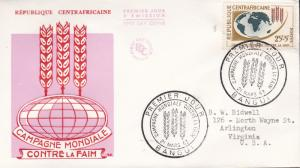 United Nations Food & Agricultural Organization 1963.Central African Repub. FDC