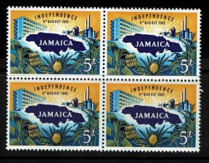 Jamaica SG# 196, block of 4, Mint Lightly Hinged - S1364