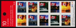 Canada 2080aiv Booklet 302Aa Cover SC MNH Flags over Bridge, Ship, Waterfall
