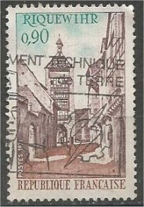 FRANCE, 1971 used 90c, Tower, Scott 1312