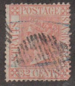 Straits Settlements Scott #17 Stamp - Used Single