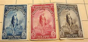 1936 INTERNATIONAL PHILATELIC EXHIBITION - New York Poster Stamps - 3