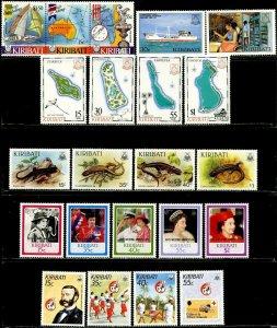 KIRIBATI Sc#484-503, 484a 1986-88 Six Complete Sets & 1 S/S OG Mint NH