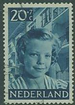 Netherlands SC#B233Girl and apartment house 20c+7c, used