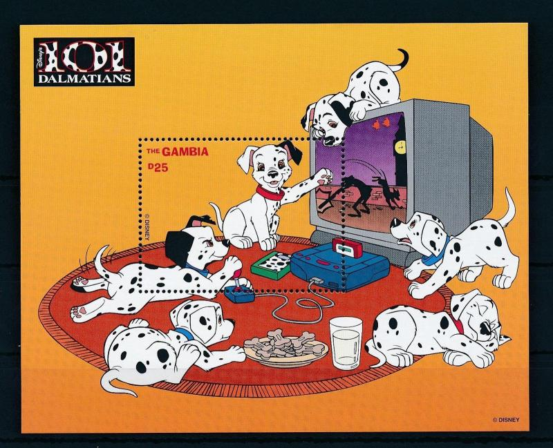 [22407] Gambia 1997 Disney Dogs 101 Dalmatians Television Videogame MNH
