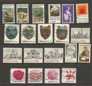 USA Postage Stamps Used 1980,1981