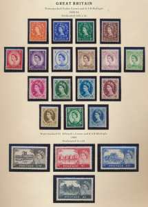 Great Britain Stamps Scott #292 To 312, Most Mint Never Hinged Incl 4 High Va...