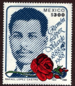 MEXICO 1550 Centenary of the Birth of Poet Ramon Lopez Velarde. MINT, NH. VF.