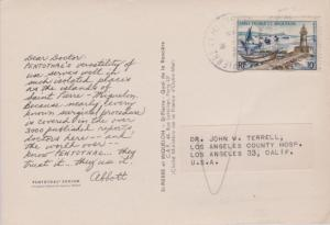 St. Pierre & Miquelon 10F Lighthouse and Fishing Fleet c1959 Saint Pierre et ...