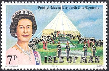 Isle of Man # 154 mnh ~ 7p Visit of Queen Elizabeth II to Tynwald