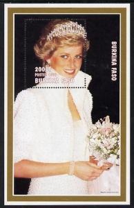 Burkina Faso 1997 Princess Diana #2 perf m/sheet unmounte...