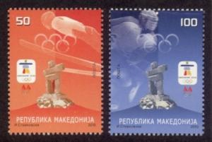Macedonia Sc# 507-8 MNH Winter Olympic Games 2010